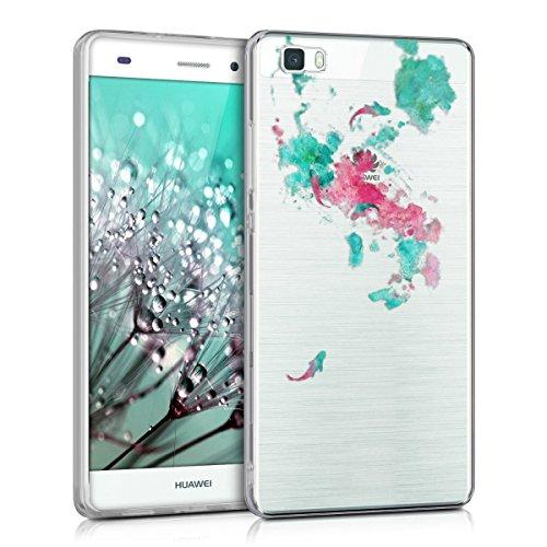 Qissy®Custodia silicone TPU Crystal per Huawei P8 Lite menta bianco trasparente Stilosa custodia di design in morbido TPU (11)