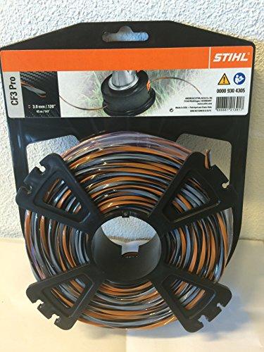STIHL 00009304305 CF3 Pro Mähfäden kreuzförmig mit Carbonanteil, Orange