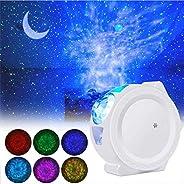 جهاز عرض ضوء ليلي LED، ضوء ليلي ليلي 3 في 1، ضوء القمر المزخرف مع صوت ونجوم تعمل بالضوء الضوئي للأطفال والأطفا