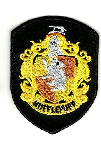 Harry Potter Crest Haus Hufflepuff Hogwarts BB klein | Stickerei Hohe Qualität Eisen auf Sew auf Patch Abzeichen für Kleidung Jacken T-Shirts Mäntel Taschen Hüte Geldbeutel (Jeans Bb Jacke)