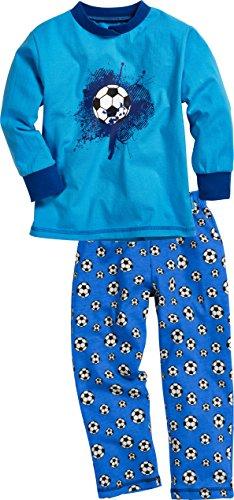 Playshoes Jungen Zweiteiliger Schlafanzug Single-Jersey Fußball, Blau (original 900), Herstellergröße: 80