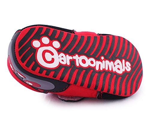 Cartoonimals Babyschuhe Mädchen Jungen Neugeborene Weiche Rutschsicheren Baby Kinder Schuhe Boots Raccoon Red