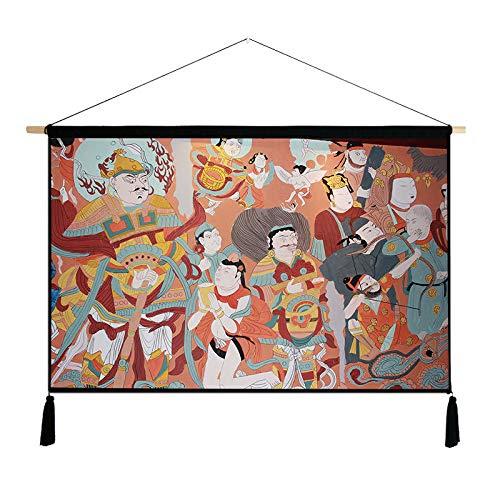 Dunhuang Mural Dekoration hängen malerei Baumwolle leinen hängen Tuch G 46 * 65 cm