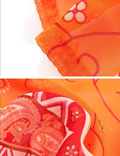 MinYuocom Damen Strandkleidung Sommer Bademode Strandkleidung Bikini Aufdecken MZF0974 Orange