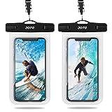 """(2 Stück) JOTO Universal Wasserdicht Handyhülle, IPX8 Unterwasser Handytasche for iPhone Xs/Max/XR/X/8/7/6S/(Plus)/Galaxy S10//9/8/(Plus)/Note 10/10+/9/8/Pixel3/2/XL/Huawei bis zu 6.5"""" -Klar"""