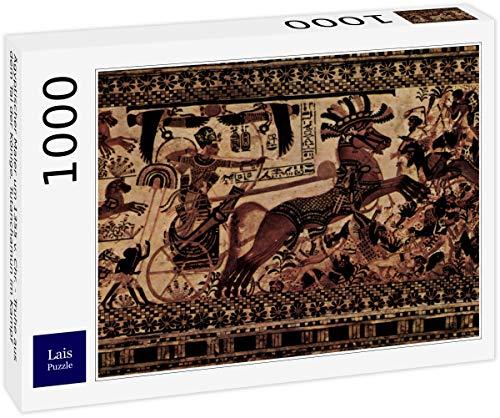Pintor egipcio alrededor de 1355 aC Chr. - Cofre del Valle de los Reyes, Tutankhamen en batalla