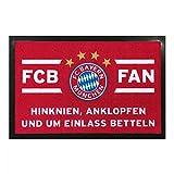 München FC Bayern Fußmatte, Matte, Fußabtreter FCB Fan - plus gratis Lesezeichen I love