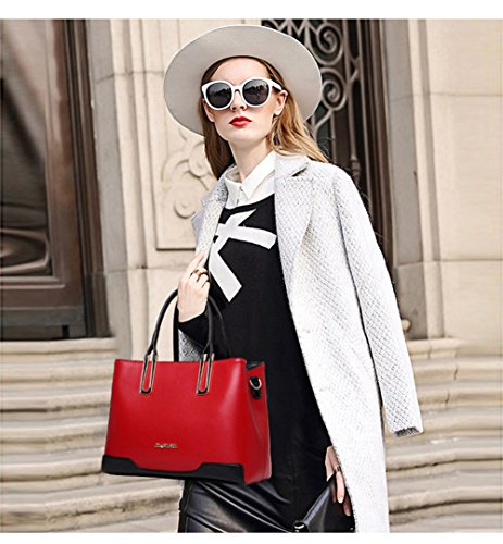 VOLSGEAT Borsa Messenger, White (bianco) - 145D Red