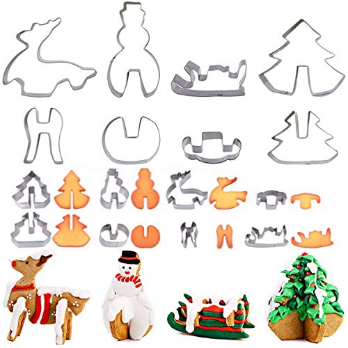 Useful Christmas Cookie Cutter Tools Aluminium Alloy Gingerbread Men Shaped Holiday Biscuit Mold Kitchen Cake Decorating Tools Strong Resistance To Heat And Hard Wearing Kitchen,dining & Bar Home & Garden