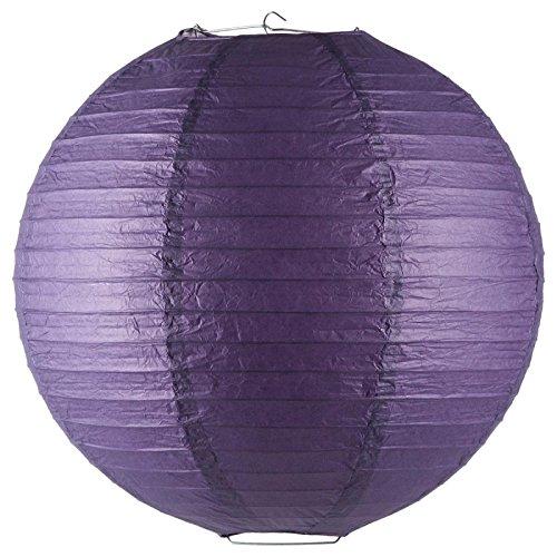 Paris Prix - Lanterne Boule en Papier 45cm Violet