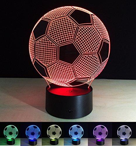 Lámparas de Art Deco, Lámpara de Noche LED 3D, color cambiando las l