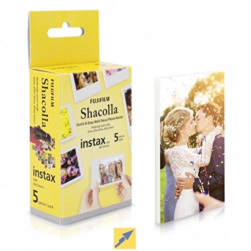 Preisvergleich Produktbild Fuji Shacolla Box für Instax Mini Bilder 5 selbstklebende Tafeln in der Box