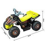 Homcom® Kinderauto Kinderwagen Elektroauto Kinderfahrzeug Kindermotorrad Quad Elektroquad Kinderquad Elektromotorrad (Elektroquad/gelb-schwarz) - 4