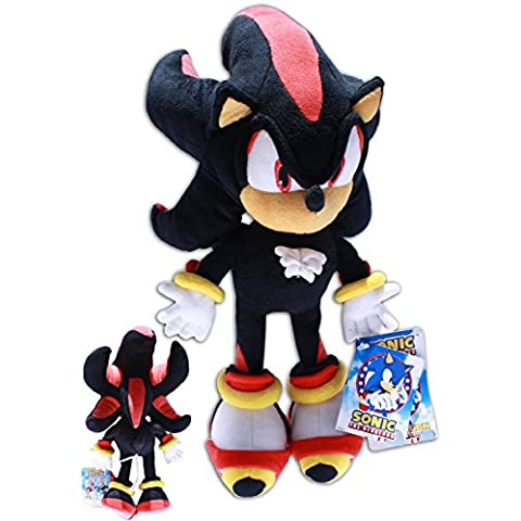Shadow the Hedgehog 35cm Sonic X Muñeco Peluche Videojuego Sega Negro Gran Calidad