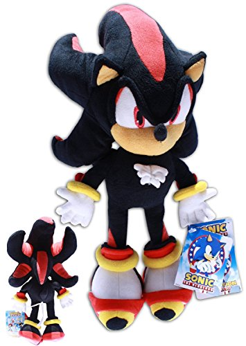 Shadow the Hedgehog Plush 14'' Sonic X Video Game Black Soft Toy Doll Supersoft