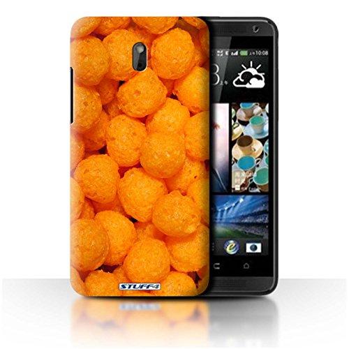 Stuff4 Hülle / Hülle für HTC Desire 609d / Cheese Puffs Muster / Imbiss Kollektion