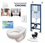 Grohe Spülkasten Vorwandelement Wc Set + Design WC, Drückerplatte weiss, Komplett