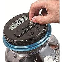 Preisvergleich für Sensexiao Digitale Coin Bank Einsparungen Jar Piggy Bank Automatische Coin Counter Summen Alle US-Münzen einschließlich Dollar und halbe Dollar Clear Jar Sicheres Spardose Sparschwein