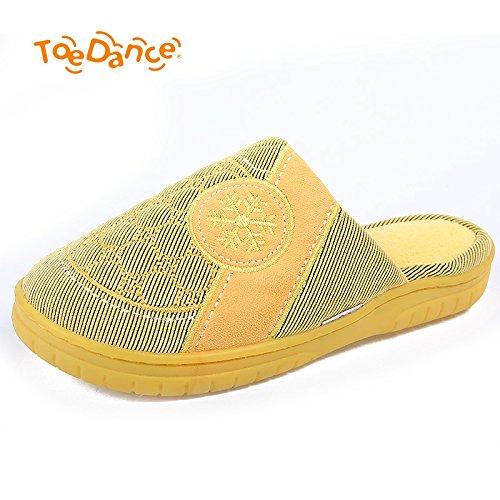 Fankou paio di pantofole di cotone femmina inverno home fondo spesso non - Slittamento Baotou piatto caldo verso il basso gli anziani pantofole 5765 maschio Kaffee Farbe