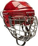 Bauer Helm 2100 Combo mit Gitter - Casco de hockey sobre hielo, color rojo,...