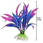 Legendog Artificial Aquatic Plants, 10 Pcs Aquarium Plants Plastic Fish Tank Decorations, Artificial Green Plant Grass… 14