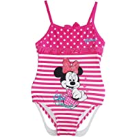 Disney Minnie Mouse Girls One Piece Swimsuit Pink - Size 3/4/5/6/7/8 years