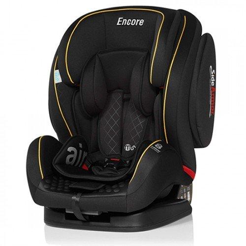 Preisvergleich Produktbild KFZ-Innovationen MS Encore Kindersitz Gruppe 123–SCHWARZ UND SENF