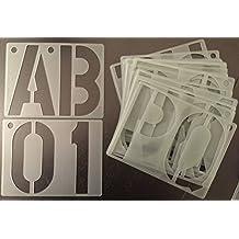 Plantilla para rotular, diseño de letras mayúsculas, números, símbolos y señales de 150mm,20unidades