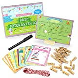 Baby Meilenstein Karten fürs erste Lebensjahr - Ideal als Geschenk zur Geburt oder in der Schwangerschaft - Meilensteinkarten Baby Cards für Jungen & Mädchen - Deutsch (großes Set)