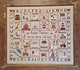 Historical Sampler Co.. - Conjunto para Punto de Cruz (Incluye Tela Aida de 16 Agujeros/cm, Aguja, Patrones e Instrucciones), diseño de abecedario