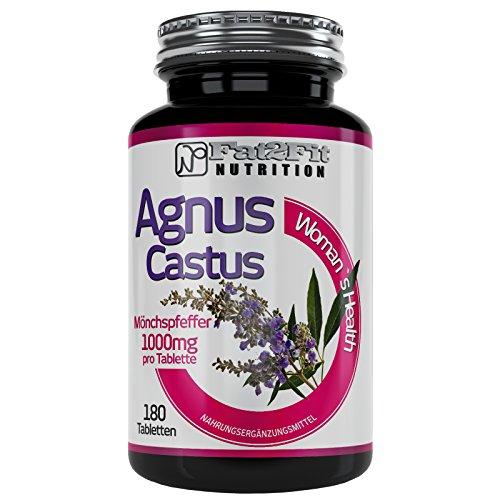 Mönchspfeffer 180 Tabletten je 1000mg Fat2Fit Nutrition Agnus Castus