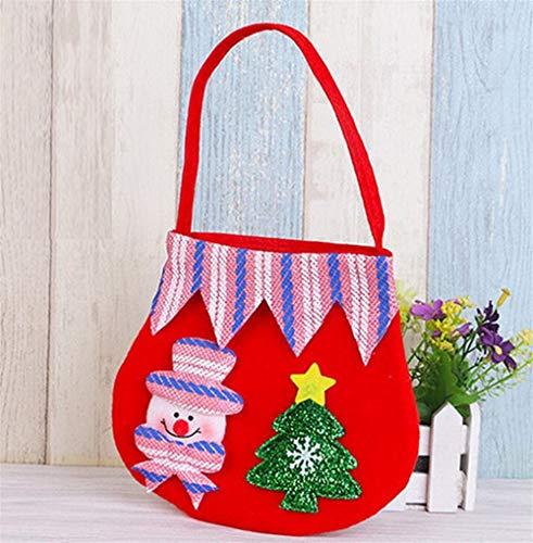 Upstudio Party Taschen Farbe Candy Bag kleines Geschenk Geschenk Tasche Weihnachten liefert (Schneemann)