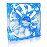 AAB Cooling Super Silent Fan 14 Blue LED - 140mm leise und effizient Gehäuselüfter mit 4 Anti-Vibrations-Pads und blauer LED