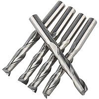 UE _ hozly 6x 32mm carburo sólido doble dos flauta espiral cortador CNC Router Bits Pack de 5
