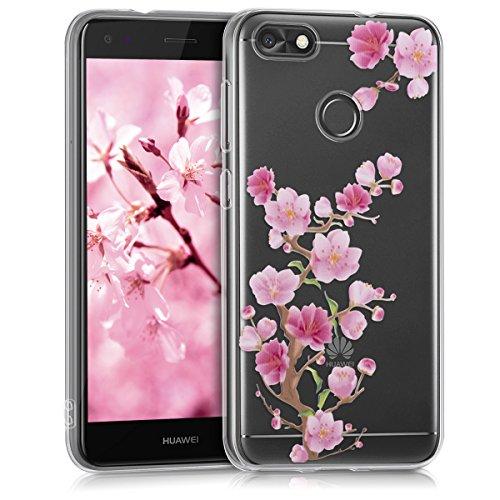 kwmobile Huawei Y6 Pro (2017) / Enjoy 7 Hülle - Handyhülle für Huawei Y6 Pro (2017) / Enjoy 7 - Handy Case in Pink Rosa Transparent