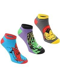 6 pares / 3 pares de calcetines con diseños de superhéroes de Marvel, Spiderman,