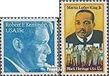 Prophila Collection USA 1371,1372 (kompl.Ausg.) 1979 Robert F:Kennedy, King (Briefmarken für Sammler) Prominente / Film / Theater