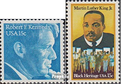 Prophila Collection USA 1371,1372 (kompl.Ausg.) 1979 Robert F:Kennedy, King (Briefmarken für Sammler) Prominente / Film / Theater -