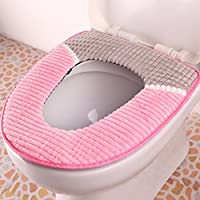 'Spritech (TM) peluche morbido lavabile bagno Warmer Toilet Seat Cover Pads