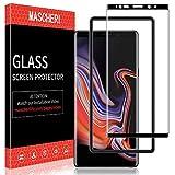 MASCHERI Pellicola Protettiva per Samsung Galaxy Note 9, 3D [Copertura Completa] [Telaio di Posizionamento] Vetro Temperato Samsung Galaxy Note 9 - Nero