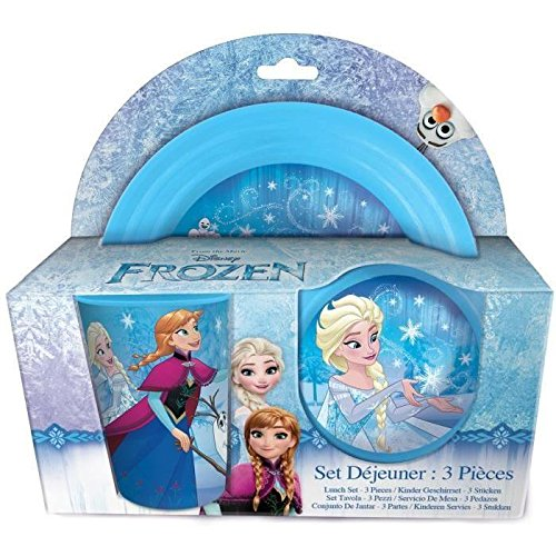 Unbekannt Beta Service Set Petit Déjeuner el51889la Reine des Neiges Frozen, 3pièces, plastique, multicolore, 15x 25x 12cm