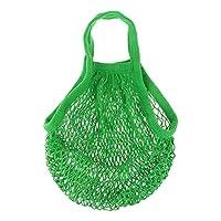 Happy little sheep Mesh Bag Organic Cotton String Shopping Tote Net Woven Re-usable Bag - Light Green,15inch