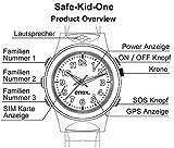 Enox Safe-Kid-One ROSA Kinderuhr Smartwatch GPS Live Tracker Peilsender Micro SIM Karten Einsatz Anruf SOS Funktion GEO-Zaun Kinder Telefon - 6