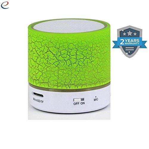 supreno™ Wireless LED Bluetooth Speakers S10 Handfree with Calling Functions & FM Radio for All Android & iPhone Smartphones (Assorted Colour)