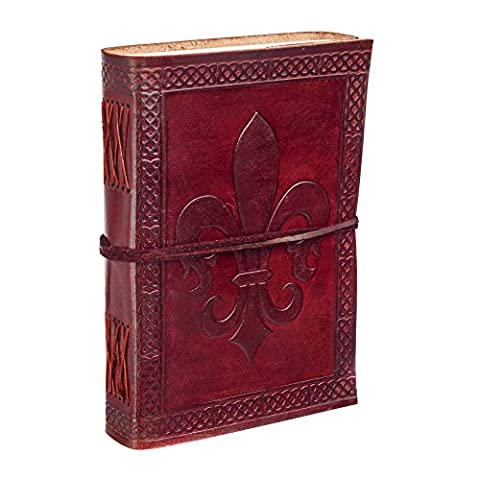 Fleur de Lys en cuir Journal Journal Notebook - Fleur Pelle