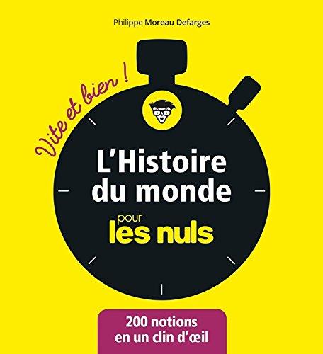 L'Histoire du monde pour les Nuls - Vite et Bien (Pour les Nuls Vite et Bien) par Philippe MOREAU DEFARGES