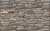 LONGYUCHEN Benutzerdefinierte 3D Wandbild Tapete Ziegel Wand-Muster Stein Ziegelmauer Geeignet Für Wohnzimmer Schlafzimmer Hotel Café Wohnkultur Seide Wandbild,280Cm(H)×460Cm(W)