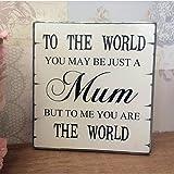 WINOMO Mama Mütter Tag Geburtstag Weihnachten Geschenk Shabby Vintage Chic