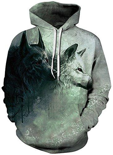 Bettydom Herren Unisex Casual mit 3D Aufdruck Fantasie Motiv Sweatshirt  Kapuzenpullover Hoodies Langarm Top Streetwear Shirt ...