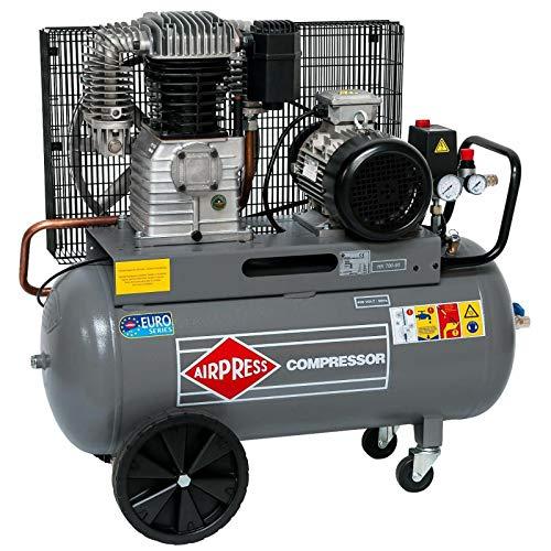 Airpress® ölgeschmierter Druckluft-Kompressor 5,5 PS | 4 kW 11 bar 90 Liter Kessel 400 Volt großer Kolben-Kompressor HK 700-90